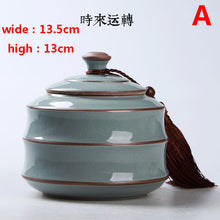 China ge-kiln ceramic tea canister  Accent Home Decor Traditional Classical Collectable Tassel