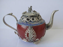 China Tibet Ornaments copper inlay Buddha amulet Tea Pot Metal Hammered Metal Accent Home Decor