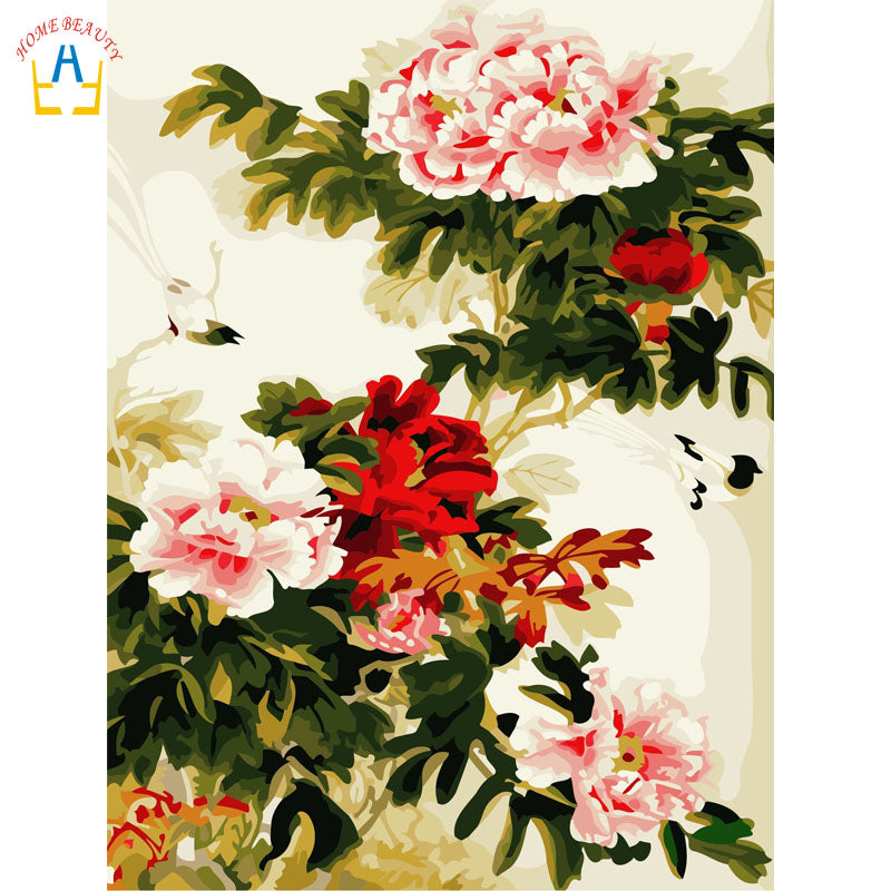 Chinese Inspired Roses Flowers Still Life Modern Classical Accent Art Print Poster Wall Art Floral