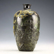 Chinese Bronze Statues Gold-plating Flower Bird Vase Accent Home Decor Success Good Fortune