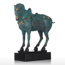 Feng Shui Horse Freedom Strength Power Bronze Elegant Chinese Art Statue Accent Home Decor