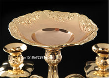 Luxurious European style Silver/Gold finish Candelabra flower Taper  Metal Alloy Accent Home Decor