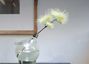 Glass Light Bulb Lamp Vase Creative Clever Make to match your decor Accent Home Decor accessory