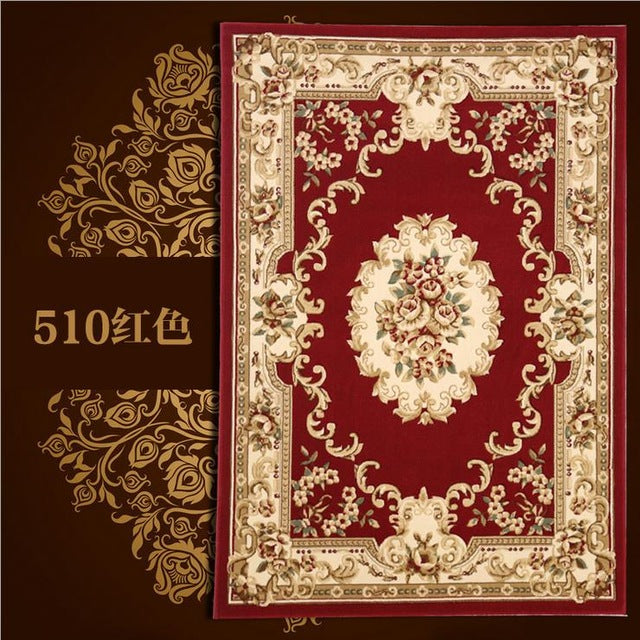 European Style Area Rug Floral Pattern instant style soft shades rose sage Home Decor Accent