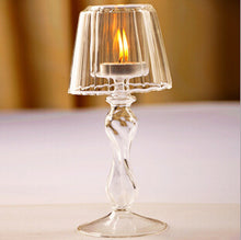 European Transparent Glass Candle Holder Lamp Goblet Shape Creative Home Decor Gift Accent