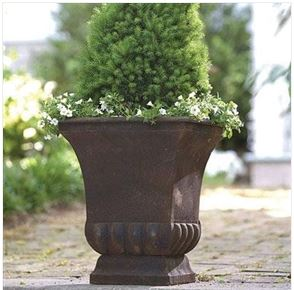 Garden Rustic Metal Urn Style Garden Planter for Indoor or Outdoor Use Home Accent Yard