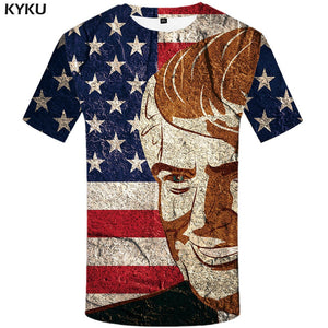 bd5221367 KYKU Brand United States T-shirt Flag Clothes Trump Shirts President  Clothing Tops Tshirt Men ...