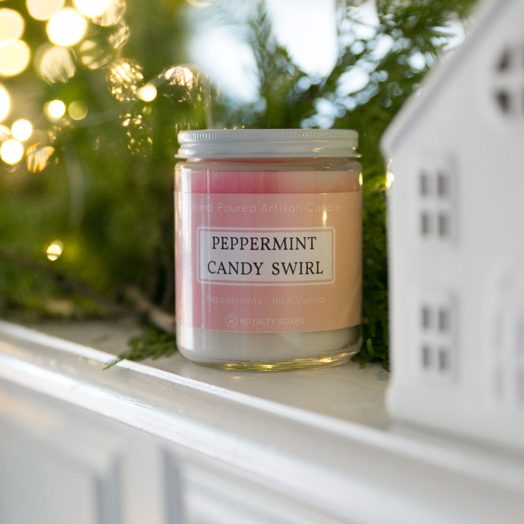 Peppermint Candy Swirl Candle
