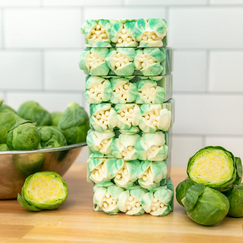LIMITED EDITION Brussels Sprouts Frosted Soap