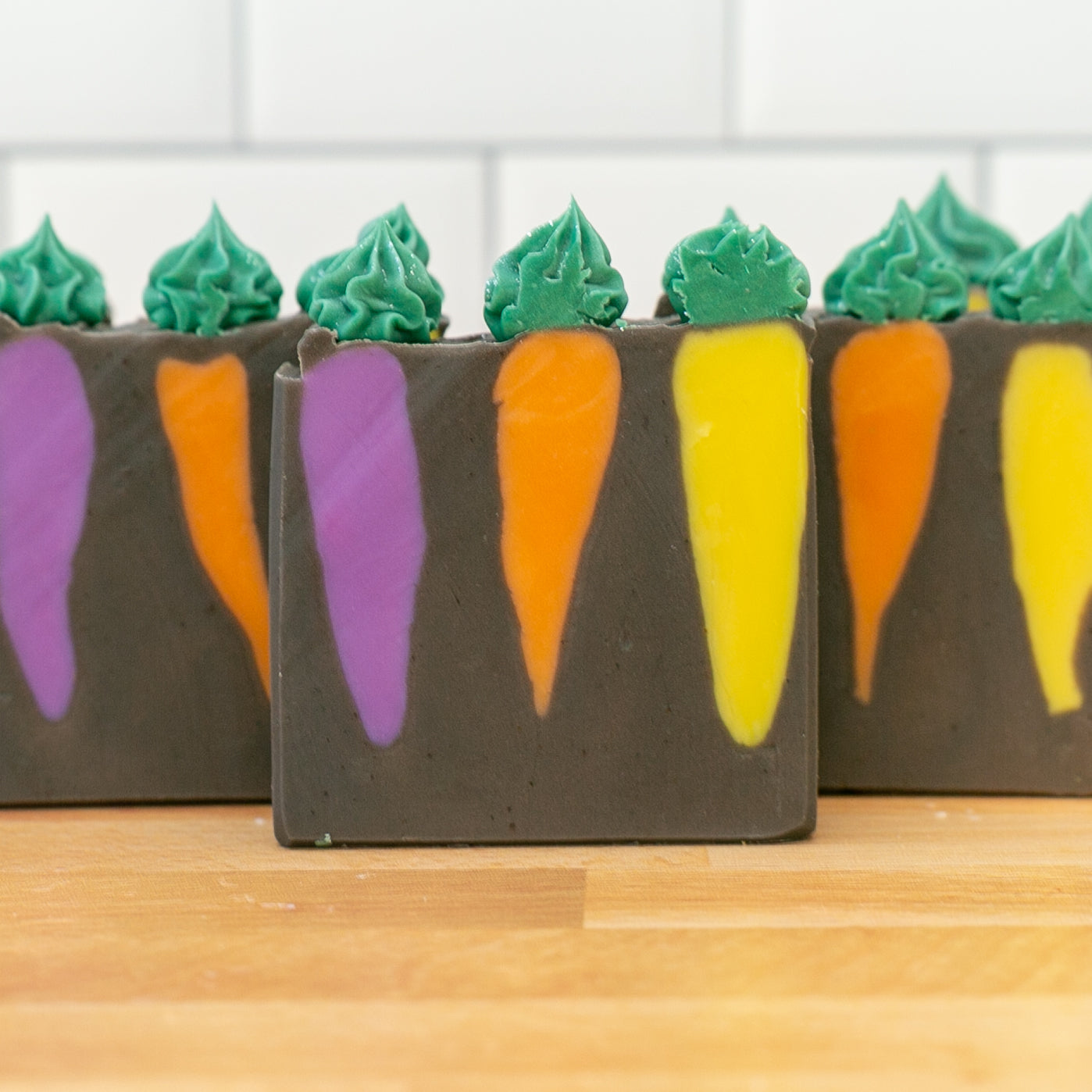 LIMITED EDITION Heirloom Carrots Frosted Soap