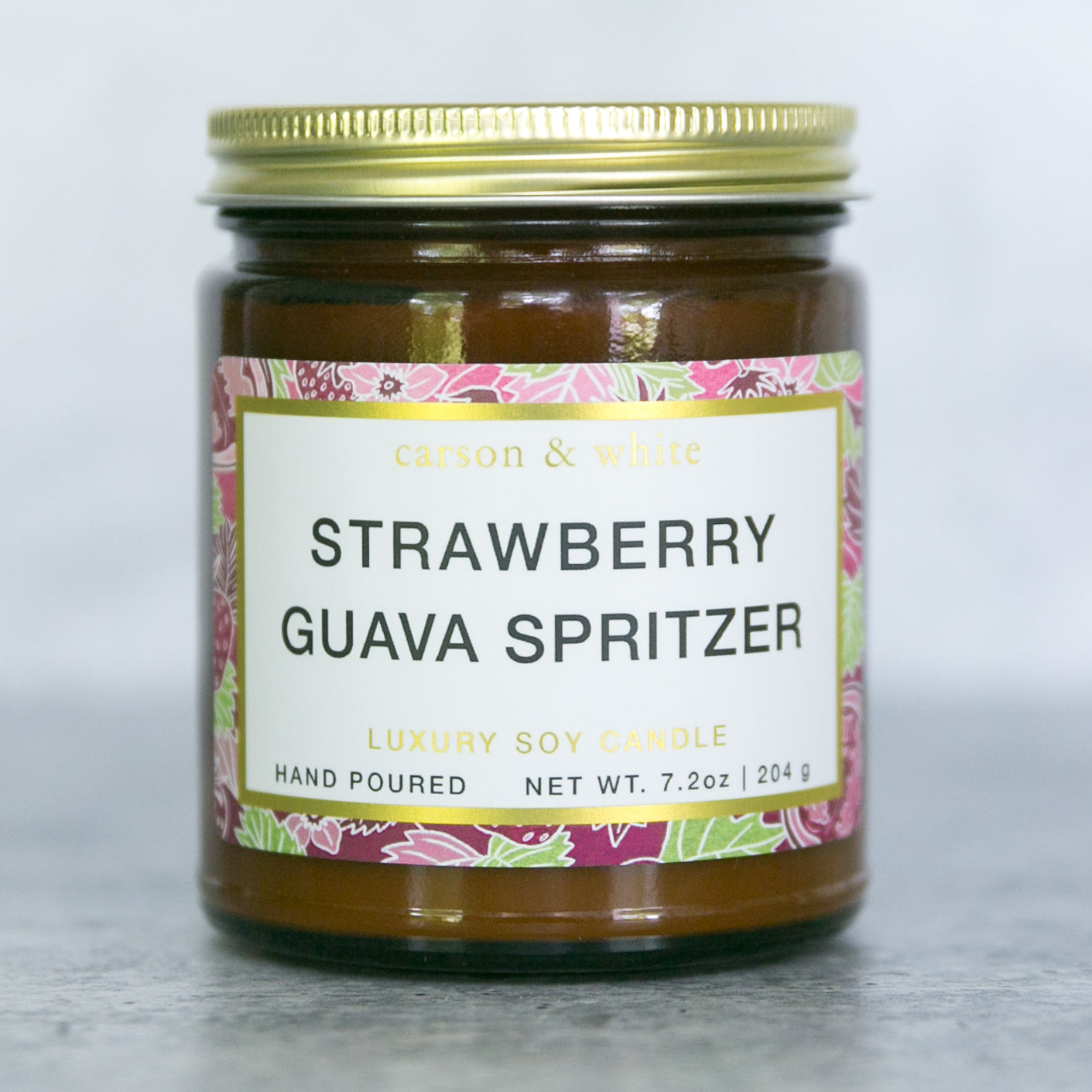 Strawberry Guava Spritzer Soy Candle / Botanical