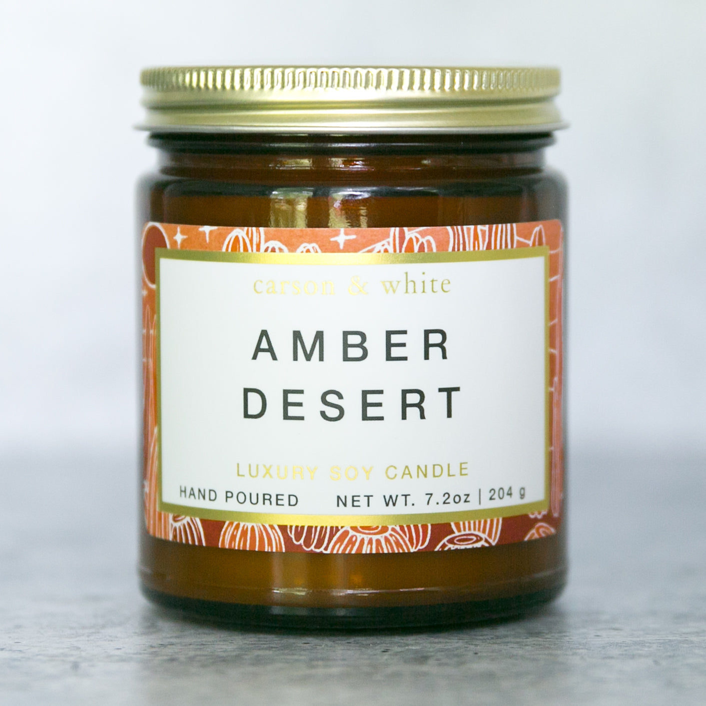 Amber Desert Soy Candle / Terrain
