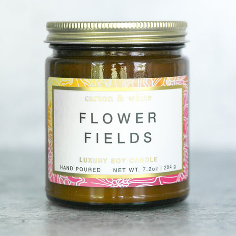 Flower Fields Soy Candle / Botanical