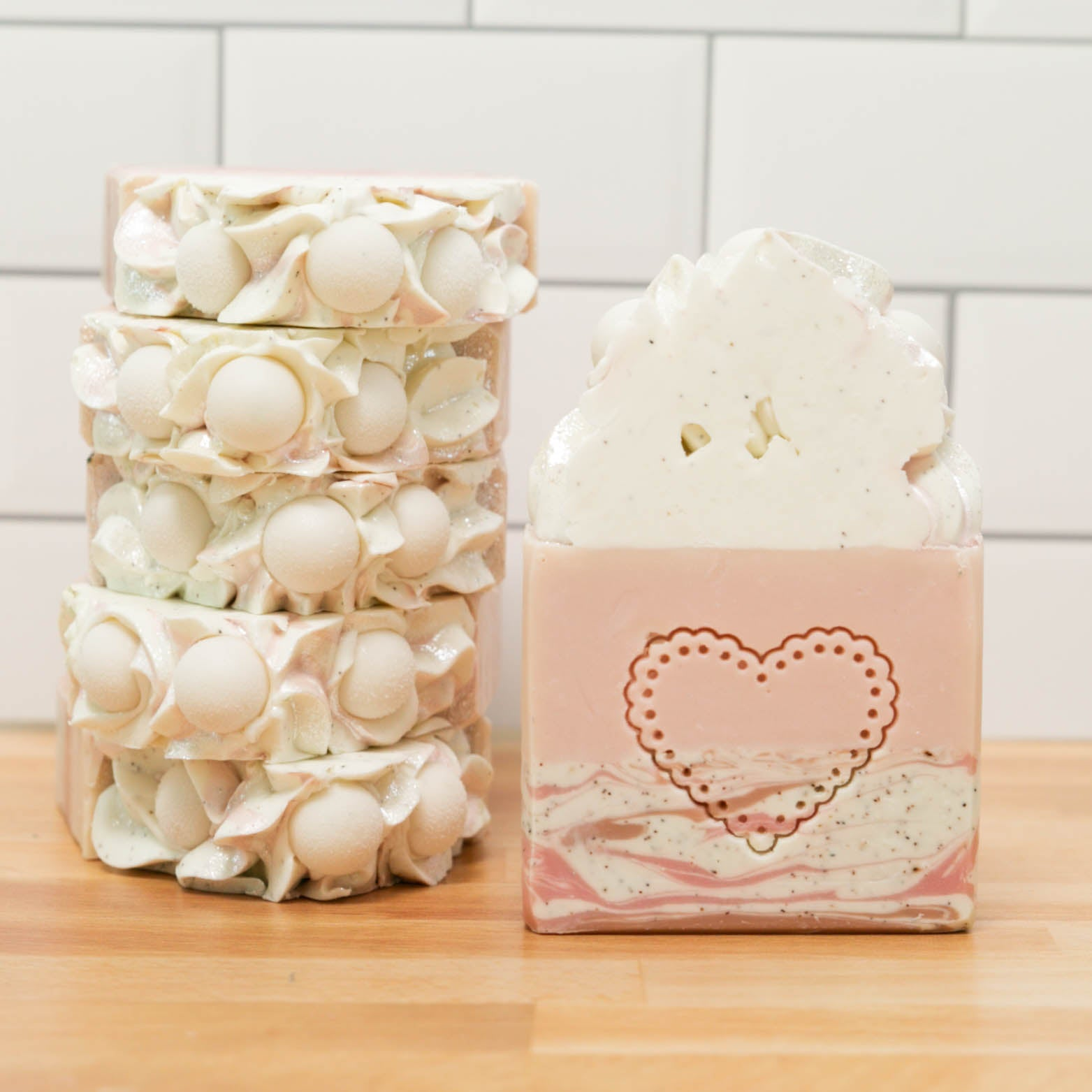 Lace and Pearls Frosted Soap