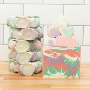 Diamond Gemstone Frosted Soap