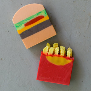 Burger and Fries Artisan Soap Set