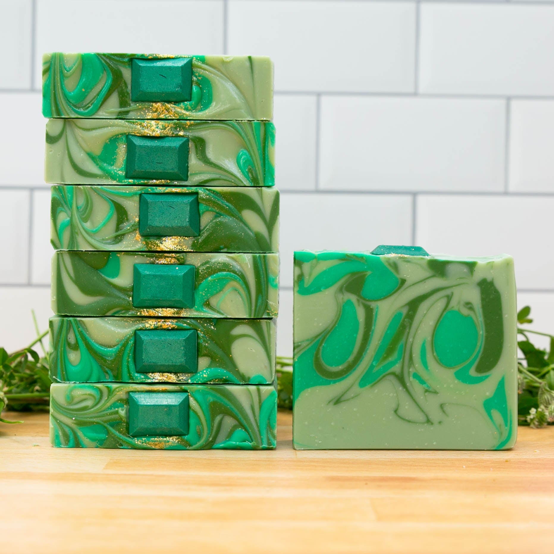 Emerald Gemstone Artisan Soap