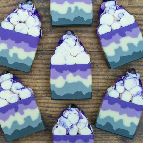Amethyst Gemstone Frosted Soap