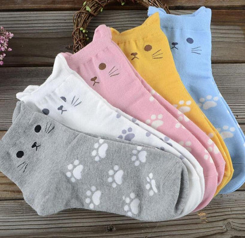 Cat Face Socks with Ears