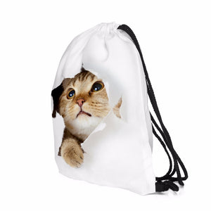 Drawstring Purrzilla Backpack