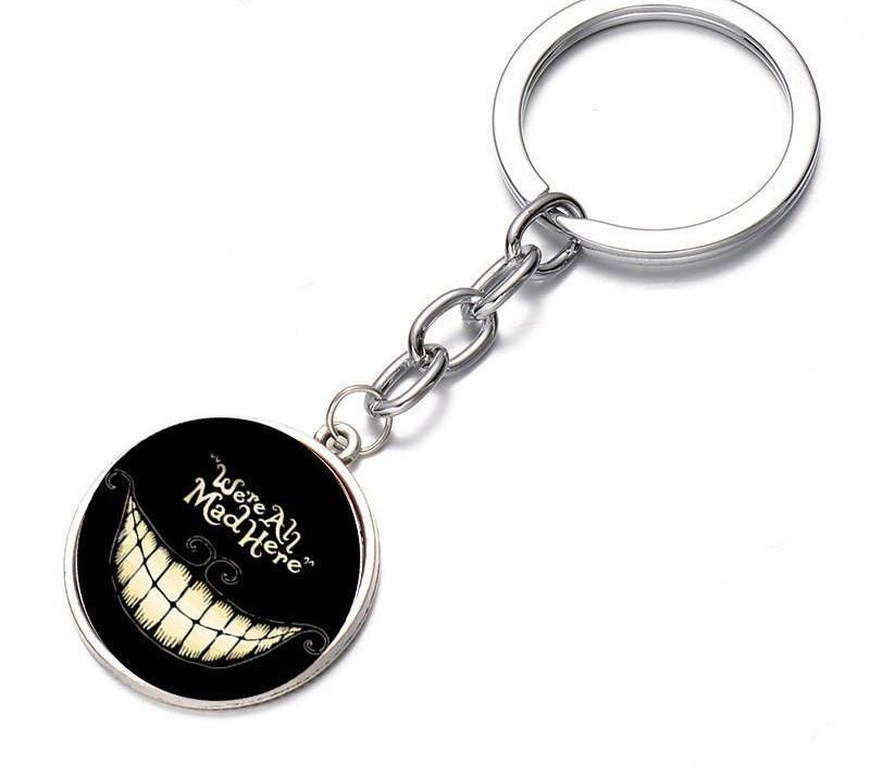 We're All Mad Here Cheshire Cat Keychain
