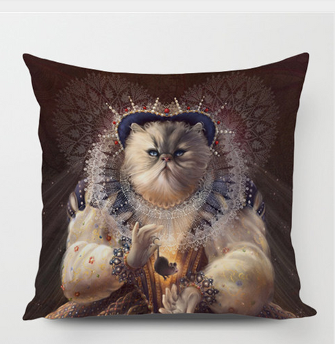 Queen Cat & Mouse Pillowcase