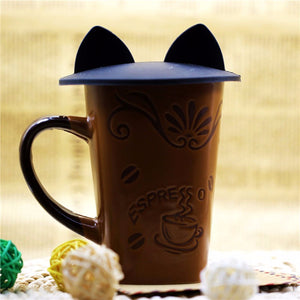 Kitty Ears Silicone Insulation Cover for Mugs/Cups