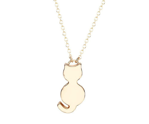 Minimalist Cat Pendant Necklace