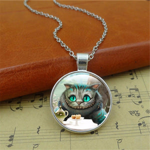 Modern Cheshire Cat Tea Time Necklace