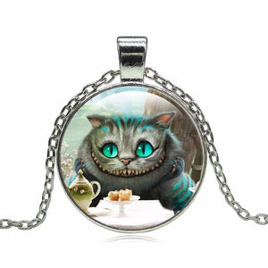 "Modern Cheshire Cat ""Tea Time"" Necklace"