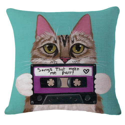 Songs That Make Me Purr! Pillowcase