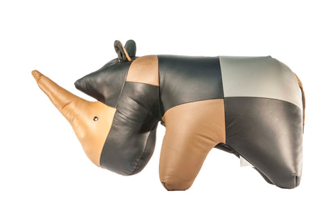 Rhino Ottoman Genuine Leather