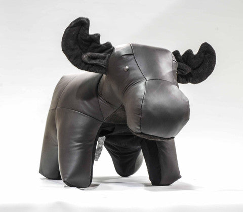 Moose Ottoman Genuine Leather