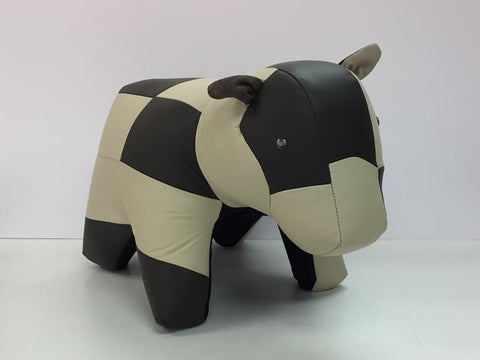 Cow Ottoman Genuine Leather