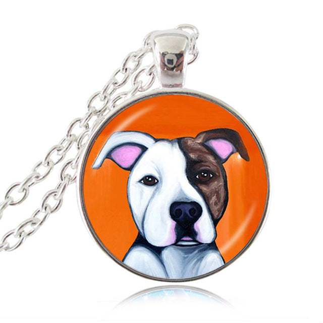Pit bull dog necklace american pitbull terrier pet puppy rescue pit bull dog necklace american pitbull terrier pet puppy rescue pendant bulldog jewelry for animal lover aloadofball Gallery