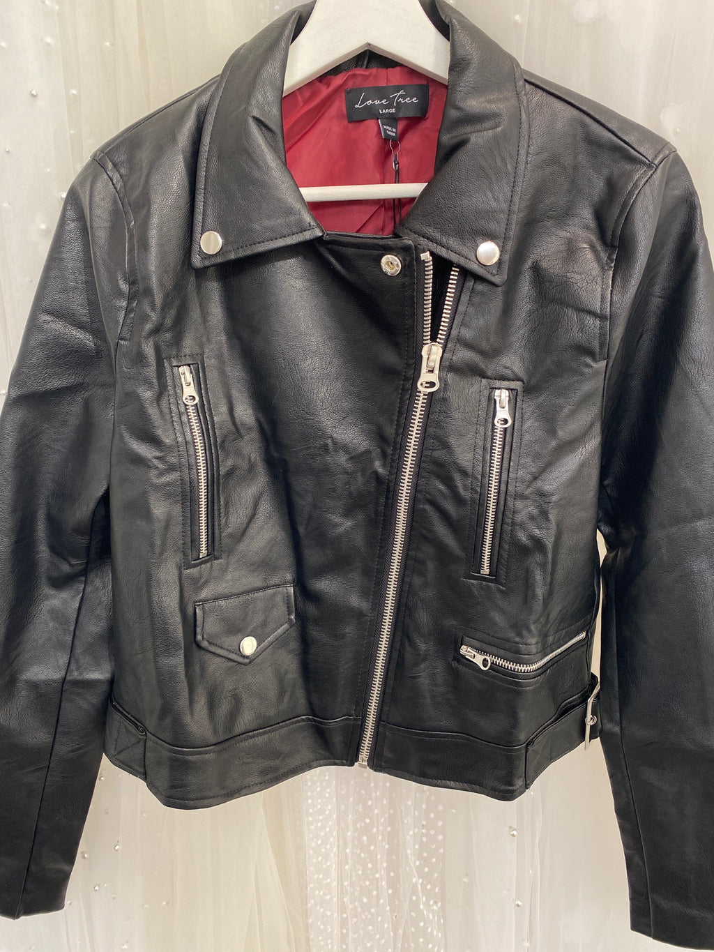 """Bride"" Faux Leather Jacket - Black - (SAMPLE SALE)"