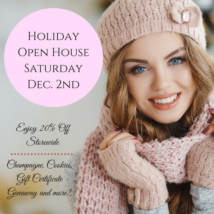 Holiday Open House December 2nd!