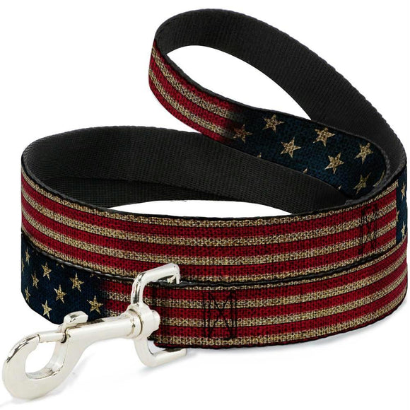 Buckle-Down Vintage US Flag Pet Leash
