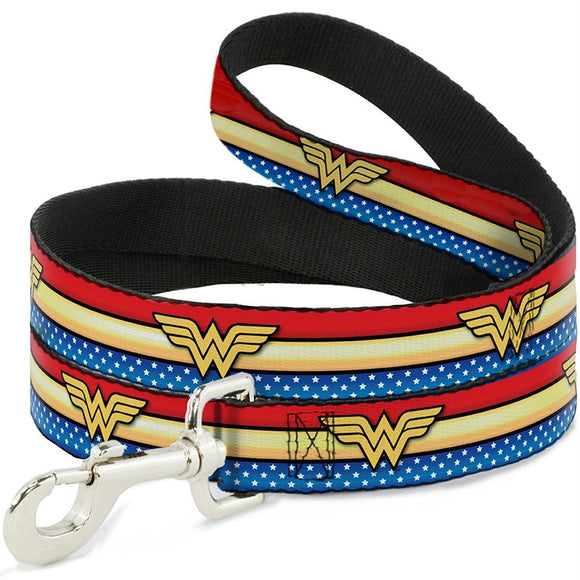 Buckle-Down Wonder Woman Logo Stripe Pet Leash