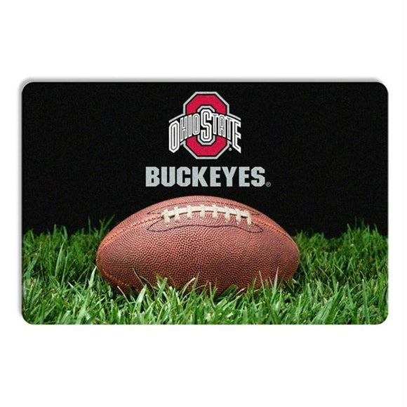 Ohio State Buckeyes Classic Football Pet Bowl Mat