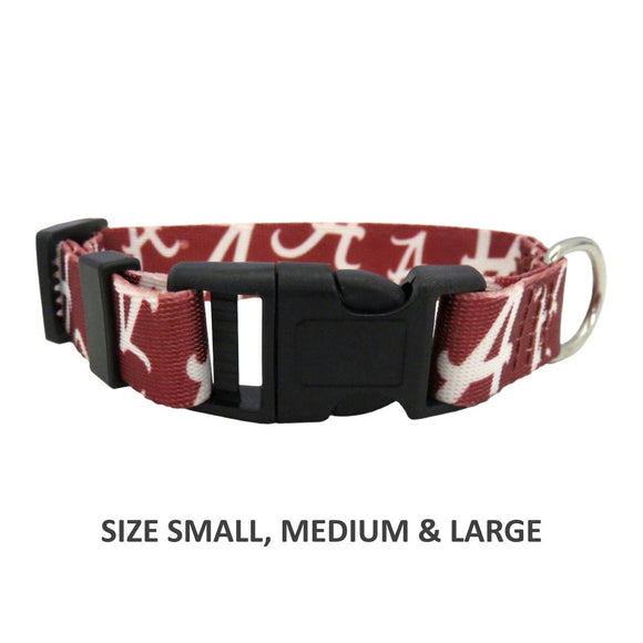 Alabama Crimson Tide Pet Nylon Collar - XS