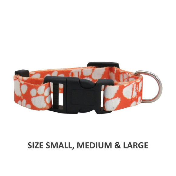 Clemson Tigers Pet Nylon Collar - Medium