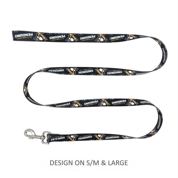 Pittsburgh Penguins Pet Nylon Leash - S/M