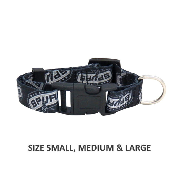 San Antonio Spurs Pet Nylon Collar - Medium