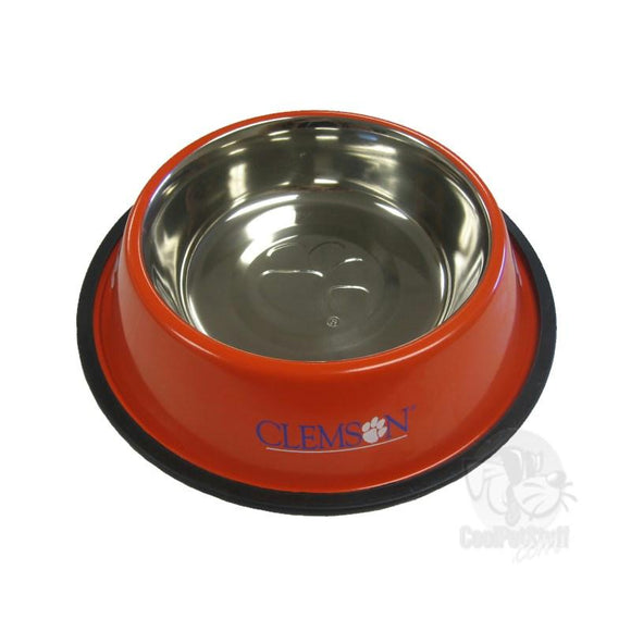 Clemson Tigers Stainless Steel Pet Bowl