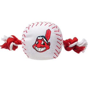 Cleveland Indians Nylon Baseball Rope Tug Toy