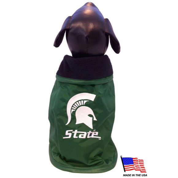 Michigan State Weather-Resistant Blanket Pet Coat