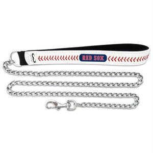Boston Red Sox Leather Baseball Seam and Rope Leash