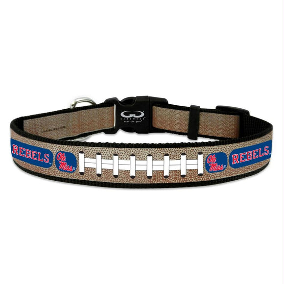 Ole Miss Rebels Reflective Football Pet Collar