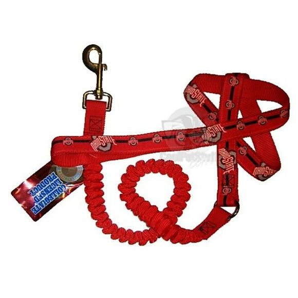 Ohio State Buckeyes Bungee Ribbon Pet Leash
